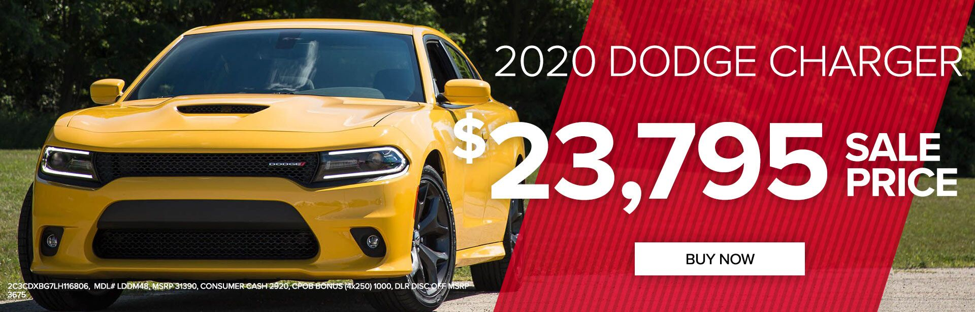 2020 Dodge Charger $23,795 Sale Price