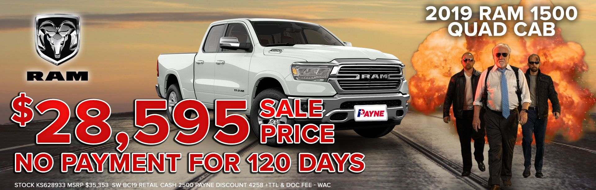 2019 RAM 1500 Quad Cab Sale Price