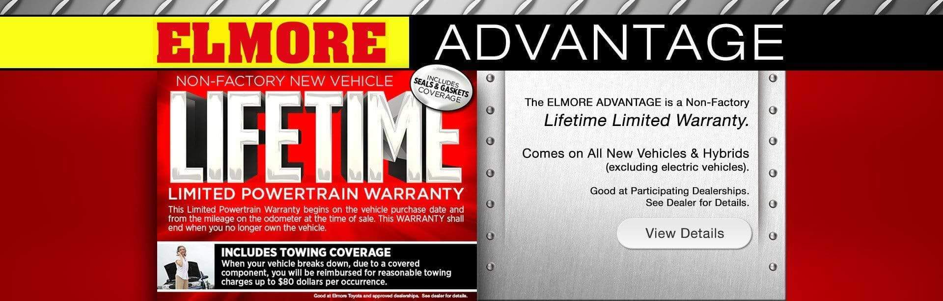 Lifetime Warranty at Elmore Toyota