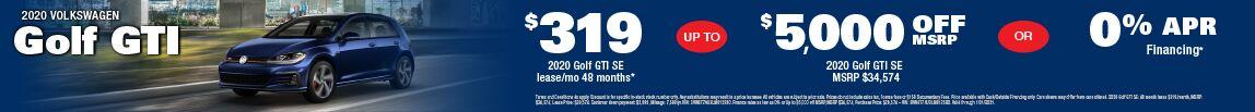 2020 Volkswagen Golf GTI at Carter VW in Seattle, WA