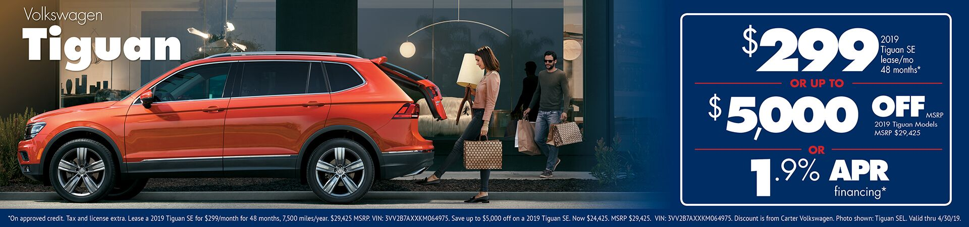 2019 VW Tiguan Special Savings Offers