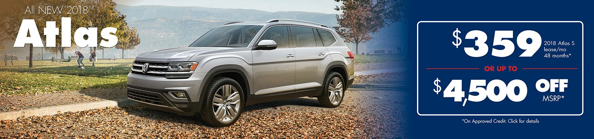 New 2018 Volkswagen Atlas Lease or Purchase Special in Seattle