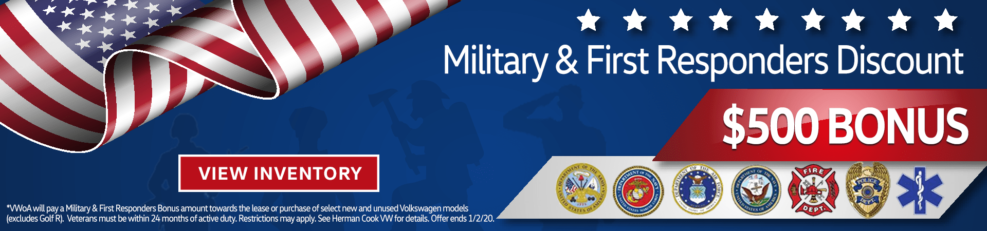 Military and First Responder $500 Bonus