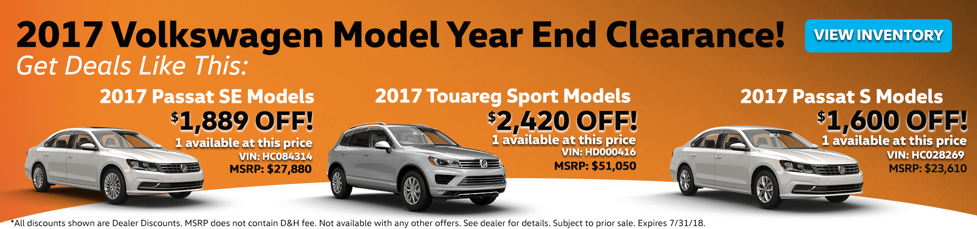 Model Year End Clearance