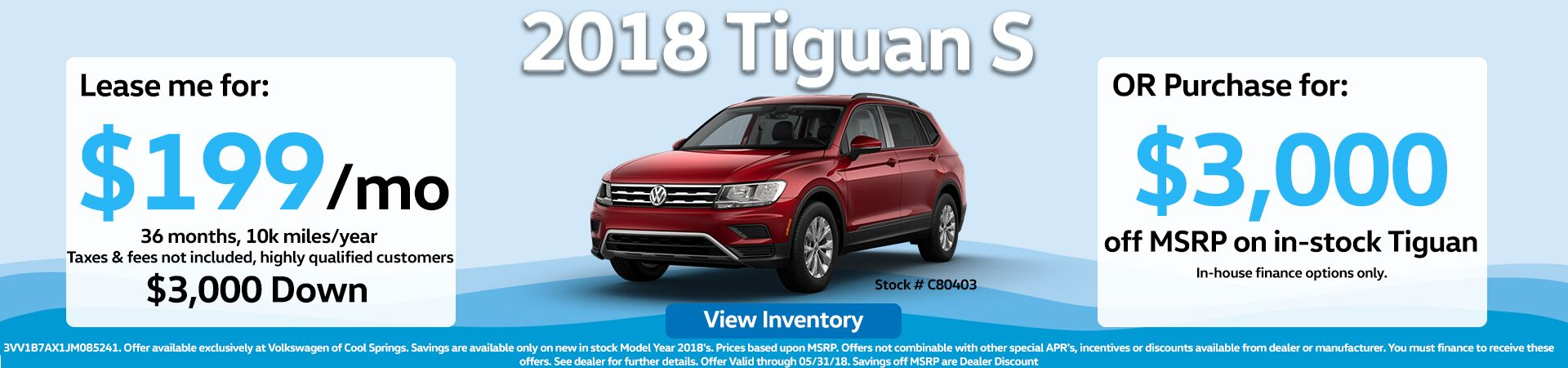 Tiguan Offer May