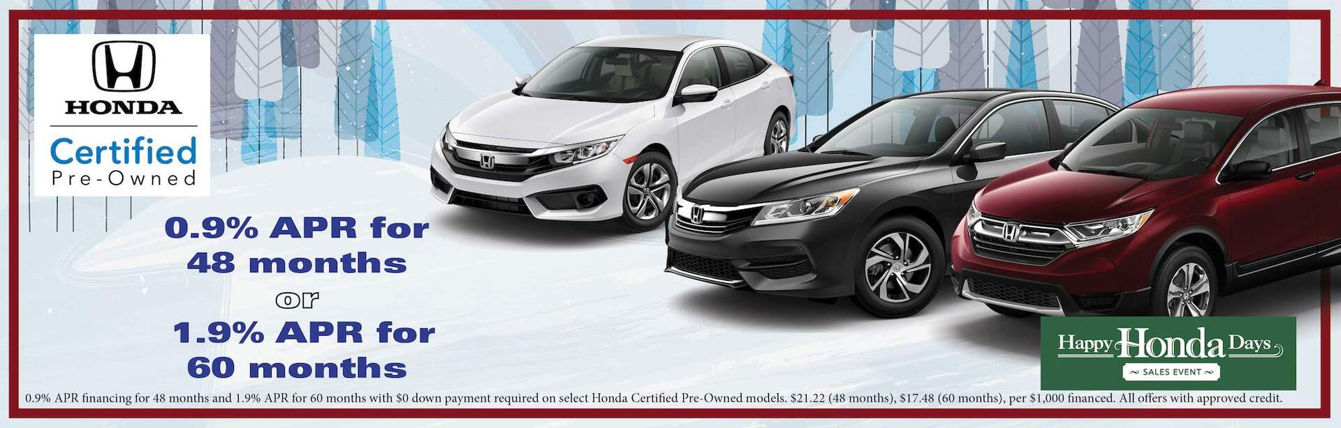Honda Certified APR Special