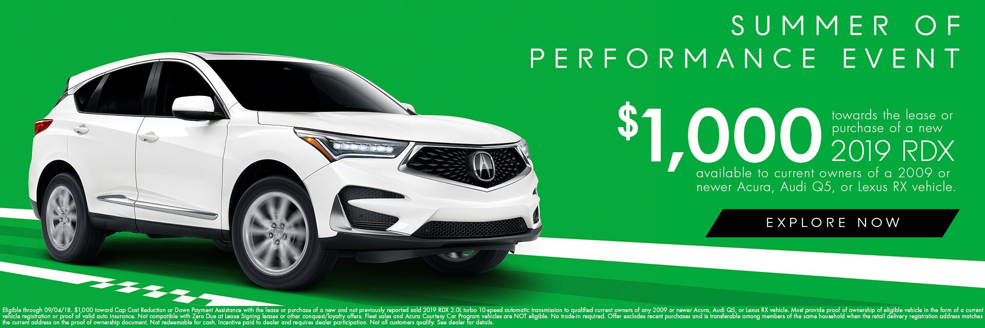 2019 RDX Loyalty Cash