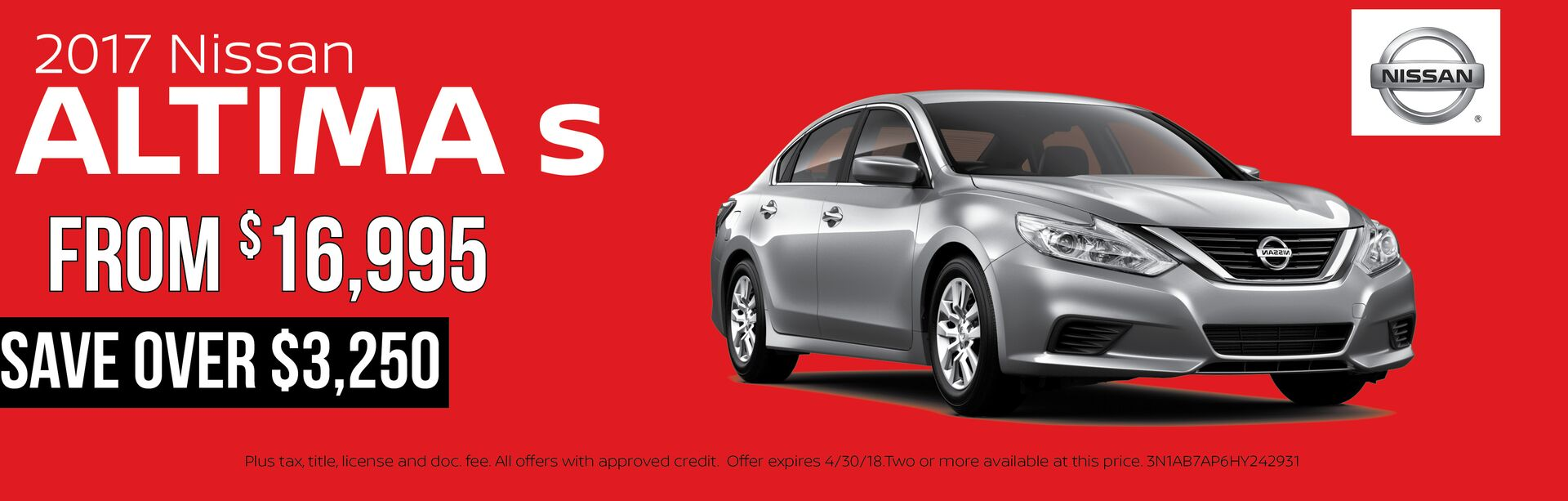 Save on a 2017 Nissan Altima
