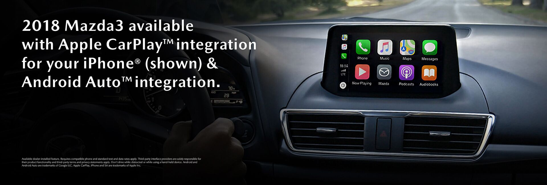 2018 Mazda3 Apple Carplay and Android Auto Integration