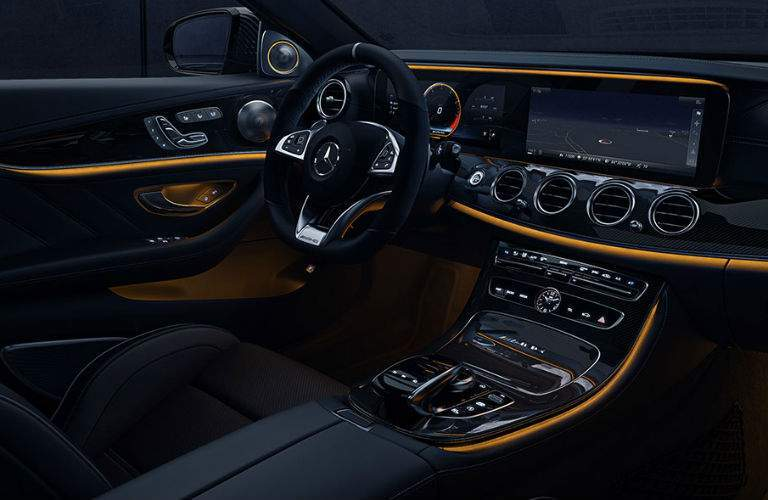 2018 Mercedes-AMG E 63 black and yellow interior