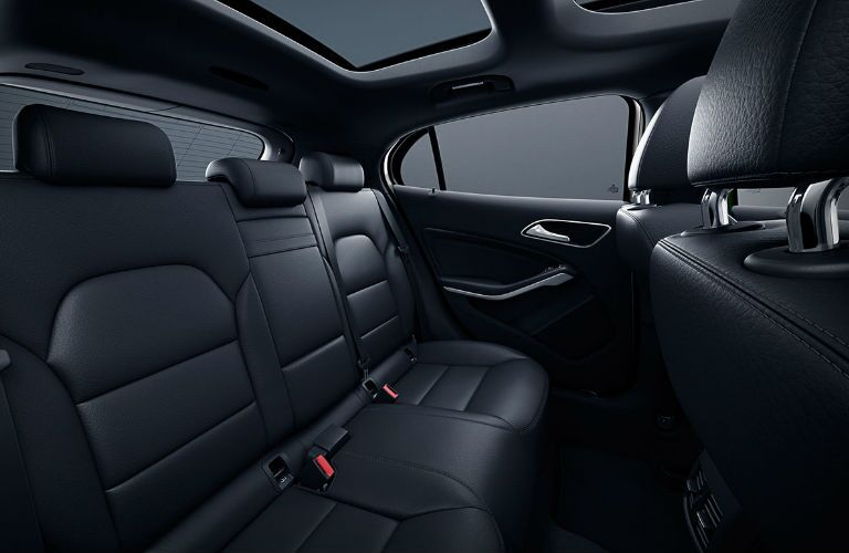Back seats of the 2019 Mercedes-Benz GLA