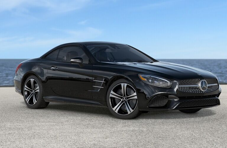 2019 Mercedes-Benz SL 450 Roadster black side view