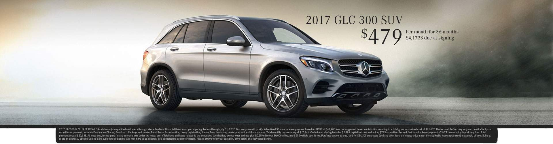 2017 GLC 300 SUV Special Offer