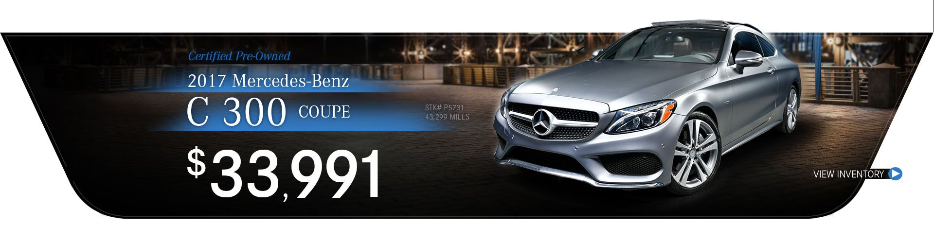 2017 Mercedes-Benz Certified Pre-Owned C 300 Coupe