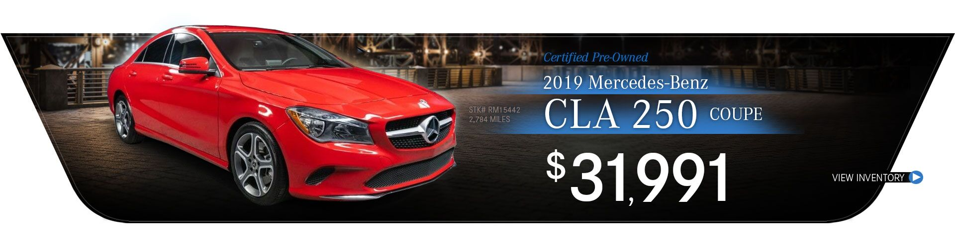 2019 Mercedes-Benz Certified Pre-Owned CLA 250 Coupe