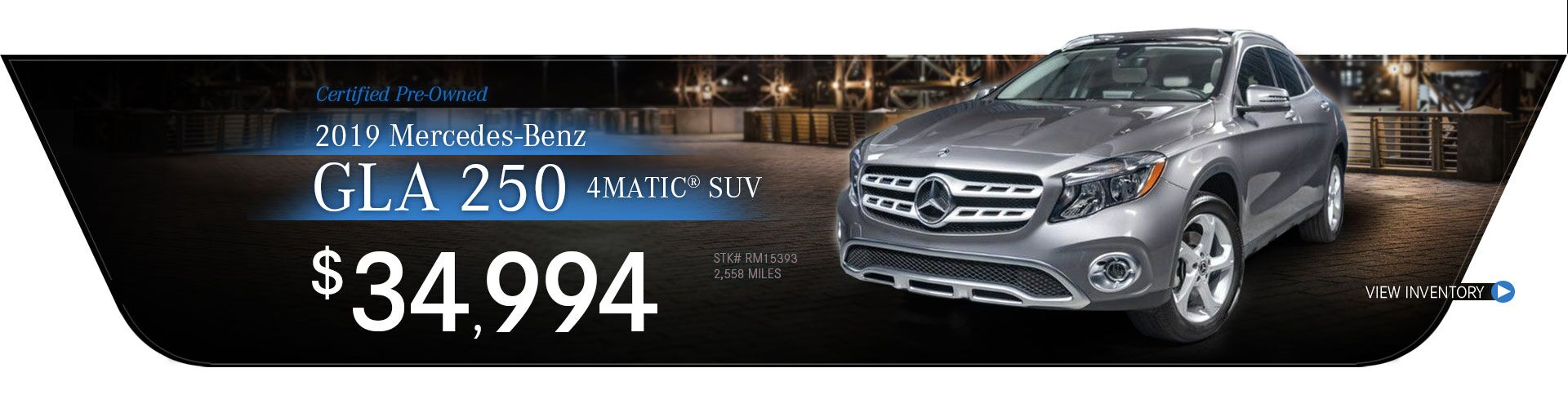 2019 Mercedes-Benz Certified Pre-Owned GLA 250 4MATIC SUV