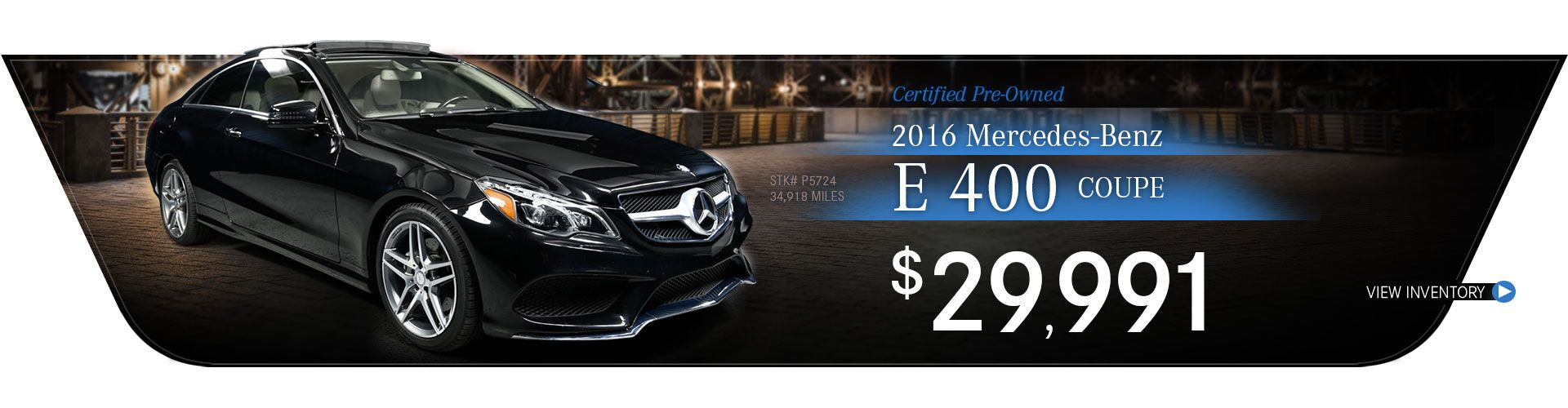 2016 Mercedes-Benz Certified Pre-Owned E 400 Coupe