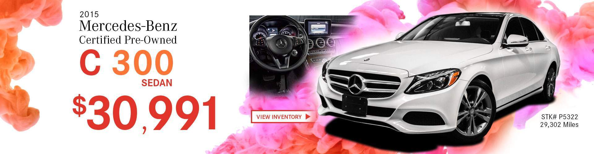 2015 Mercedes-Benz Certified Pre-Owned C 300