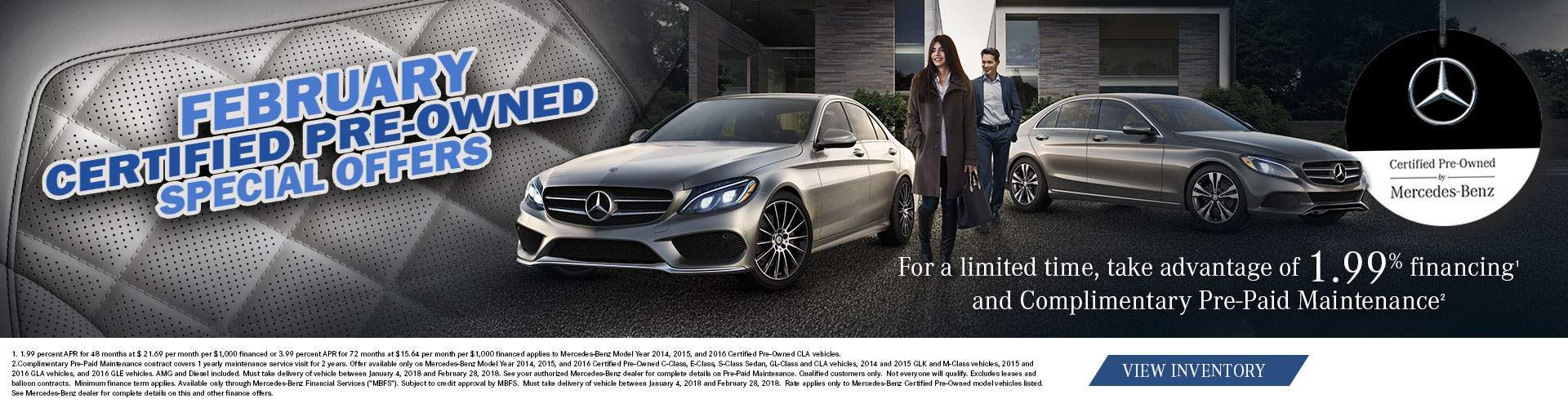 Mercedes-Benz January Certified Pre-Owned Special Offers