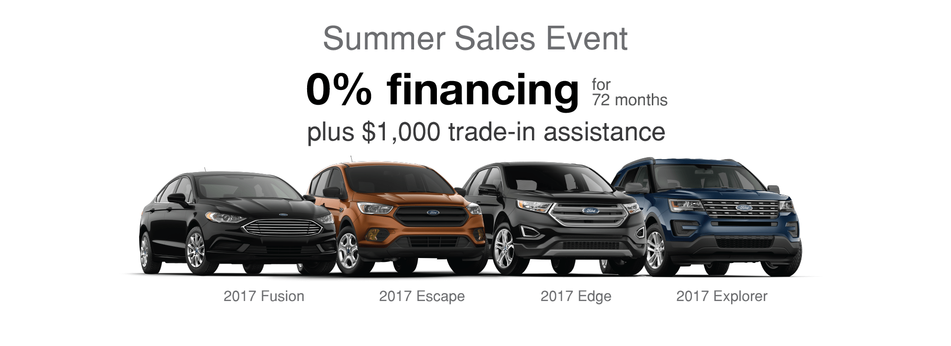 Big Savings on 2017 Mustang, Fusion, Escape and Explorer