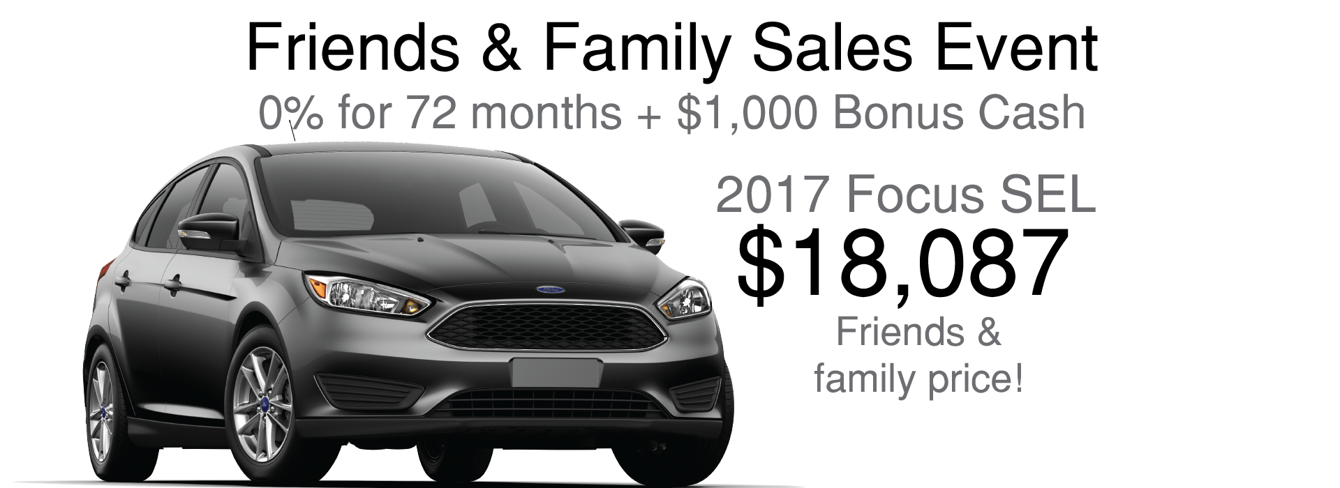 2017 Ford Focus SEL Friends and Family Price: $18,087
