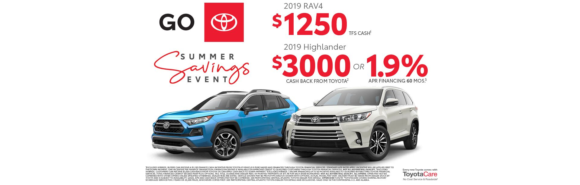 2019 July CAT Summer Savings Event