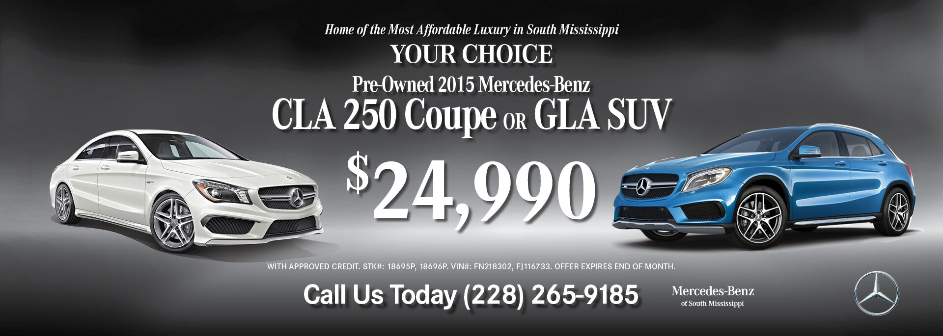 CLA/GLA 24990 special July18-2