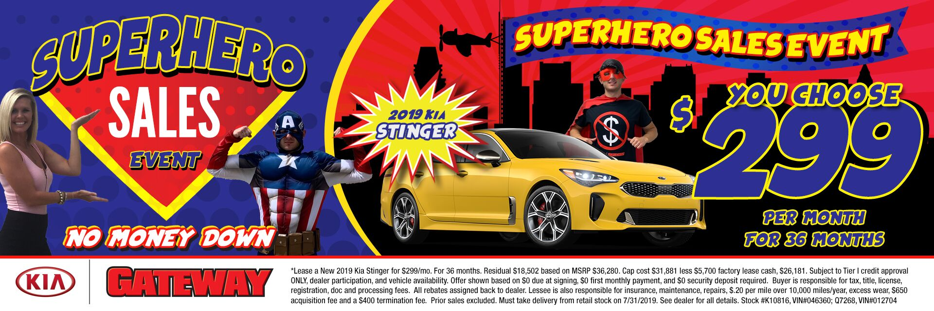 $299/mo Stinger Sign & Drive Lease Special
