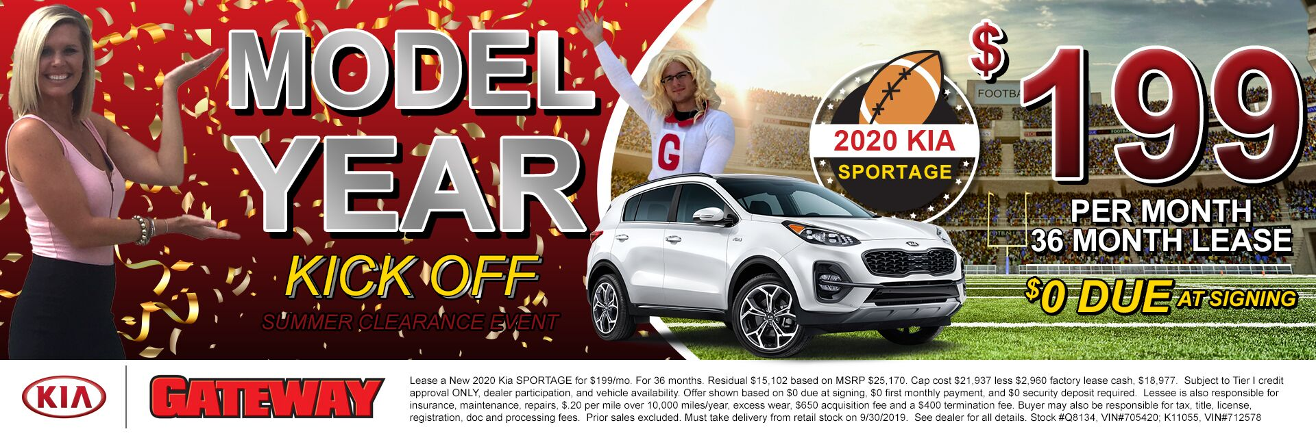 $199/mo Sportage Sign & Drive Lease Special