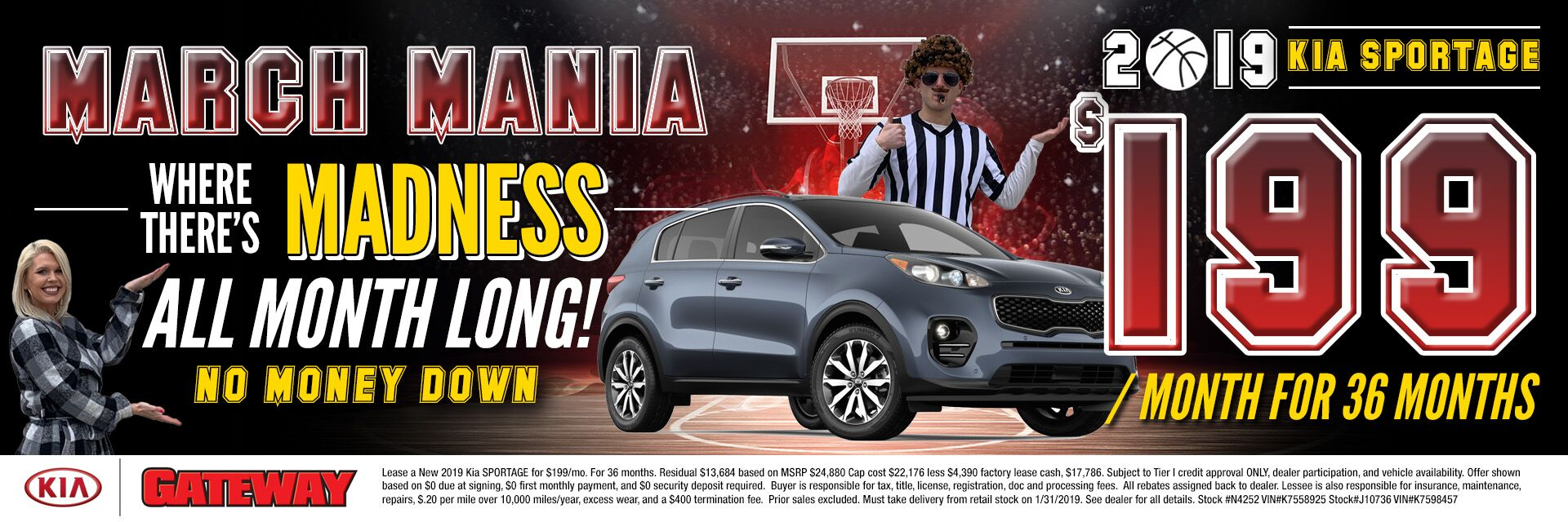 $199/mo Sportage Lease Special