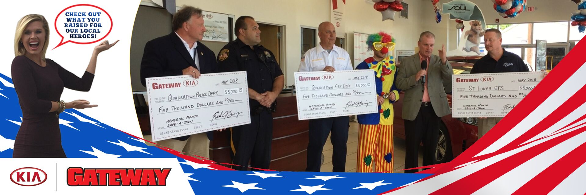 Proud to Support our local Police, Fire and EMS Depts