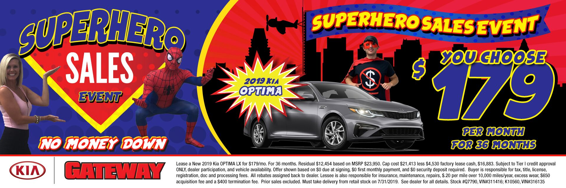 $179/mo Optima Sign & Drive Lease Special