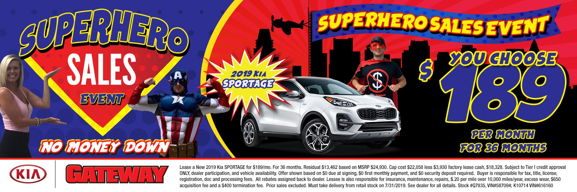 $189/mo Sportage Sign & Drive Lease Special