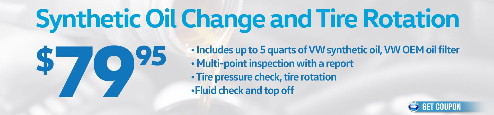 Synthetic Oil Change and Tire Rotation