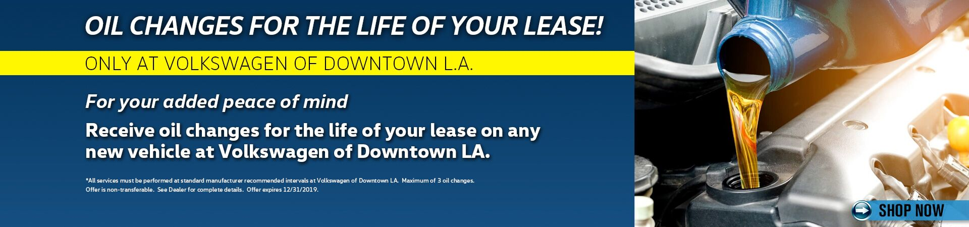 Oil Changes for the Life of your Lease
