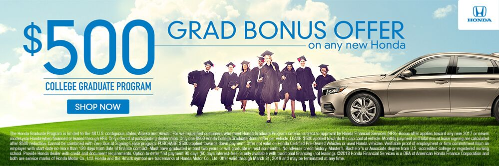 Honda Grad Bonus Offer