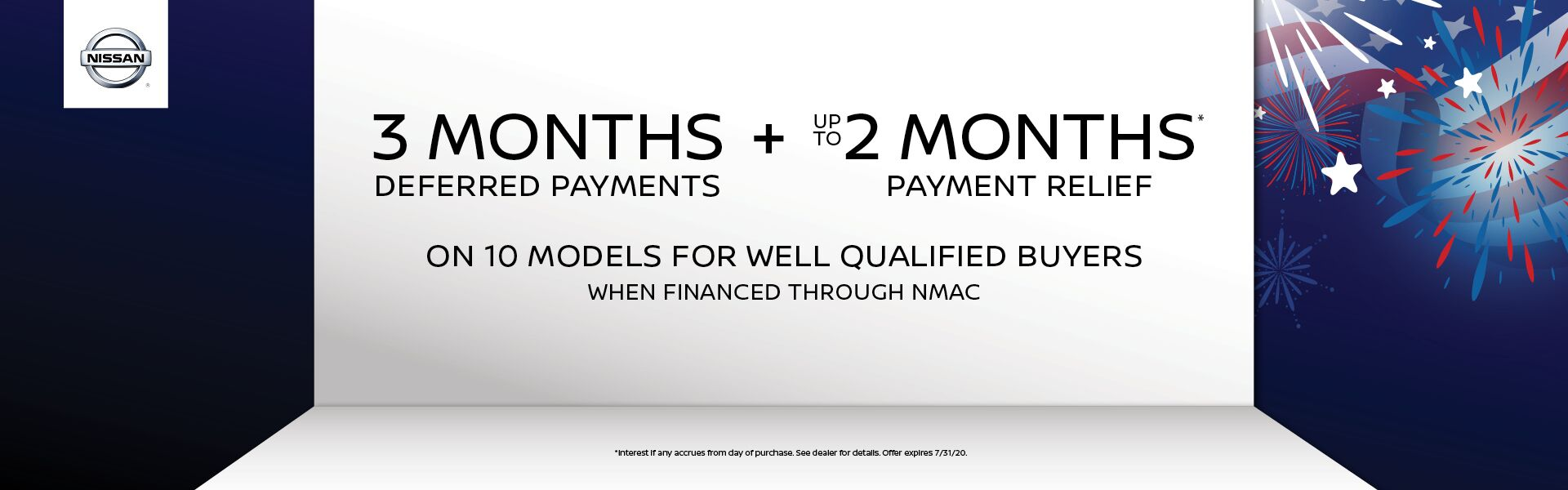 3 Month Deferred Payments and up to 2 Months Payment Relief