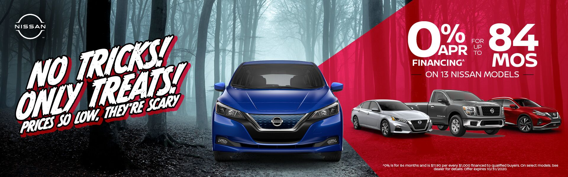 0% for 72 mos. on 9 Nissan Models