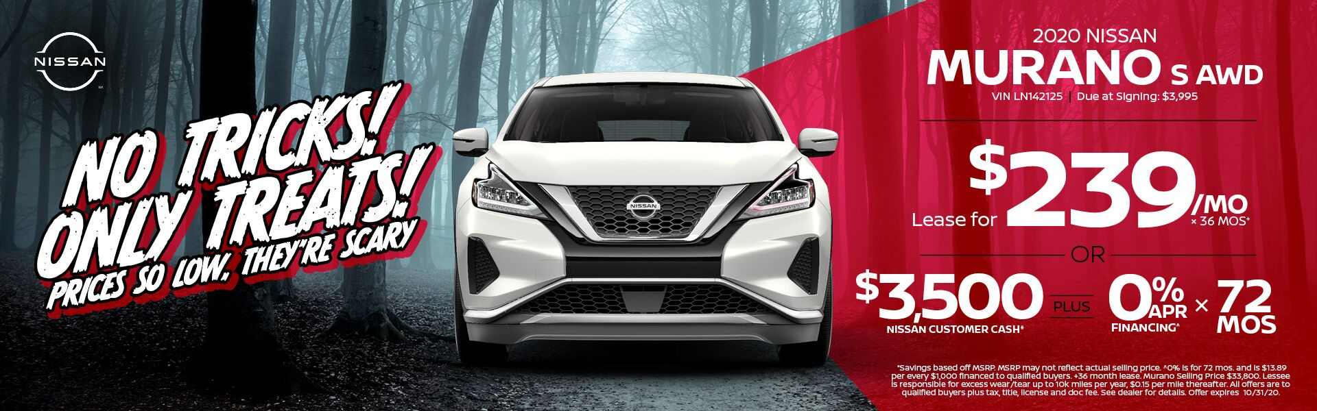 2020 Murano Lease for $239/mo