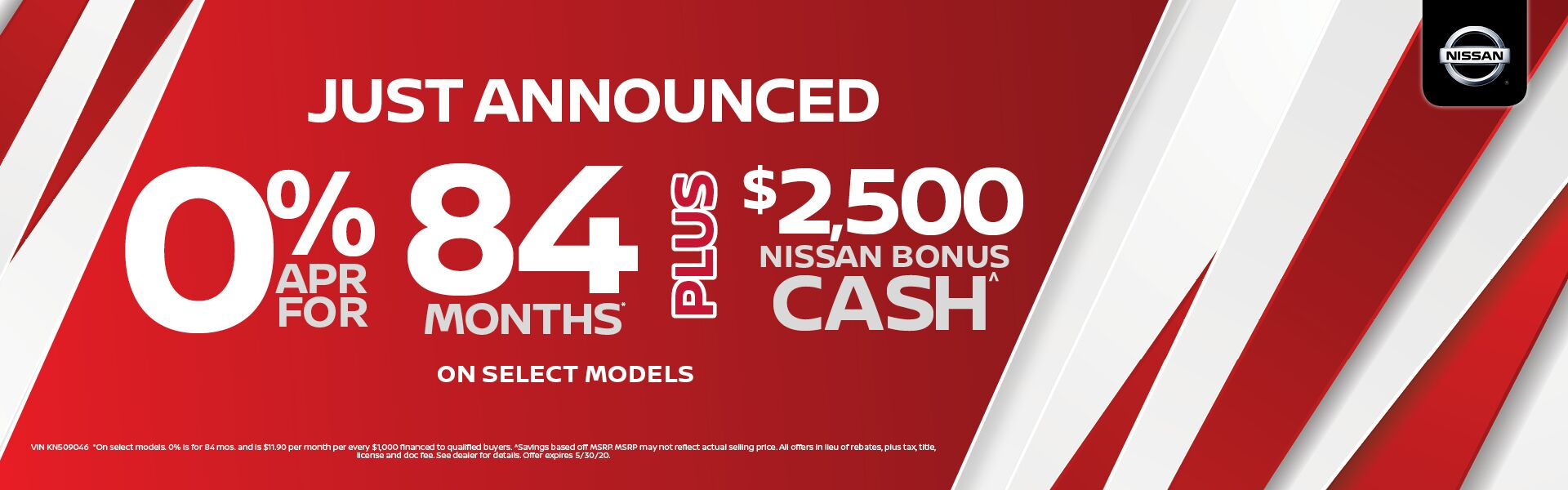 0% APR x 84 months on Select Models