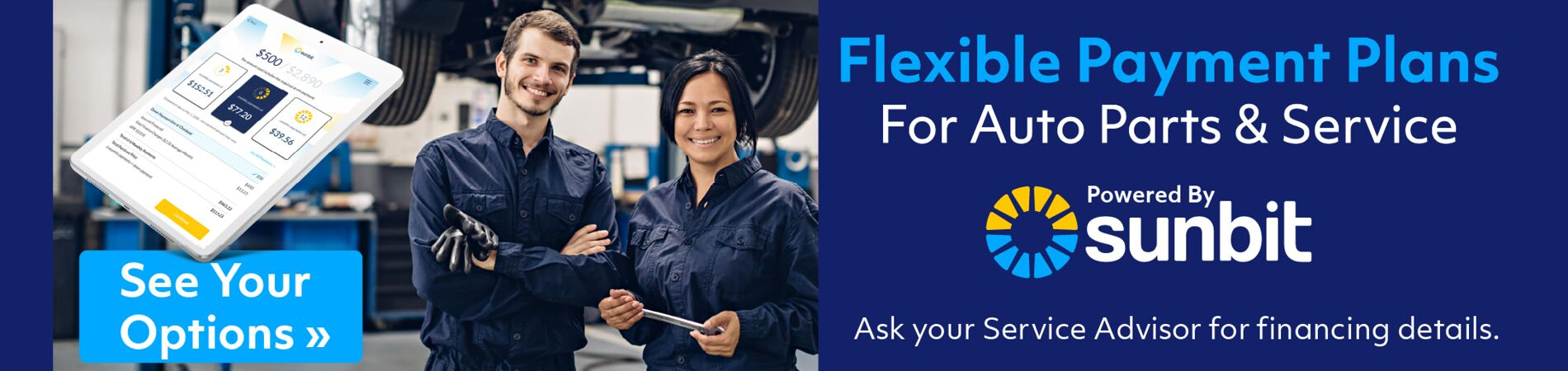 Flexible Payment Plans for Auto Parts & Service