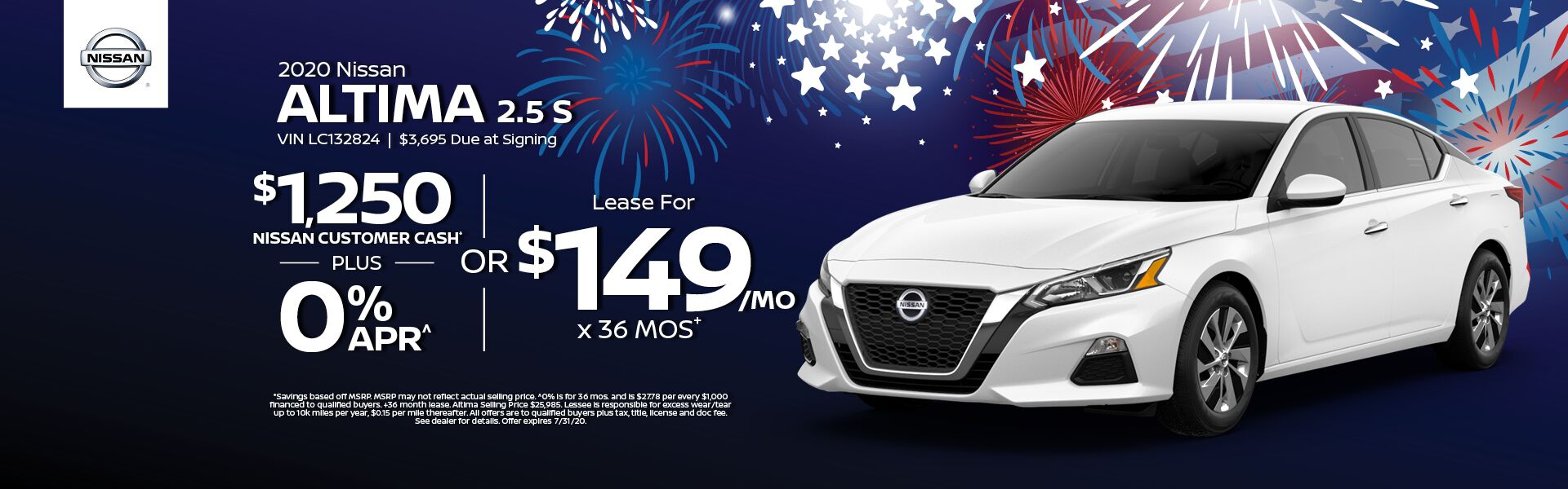 2020 Altima Lease for $149 mo.