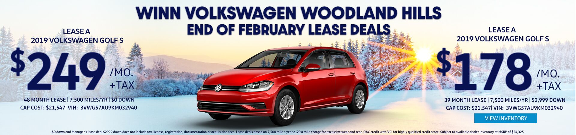 February Golf Lease deals