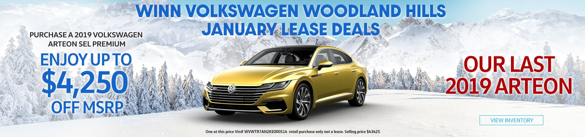 2019 Arteon deals