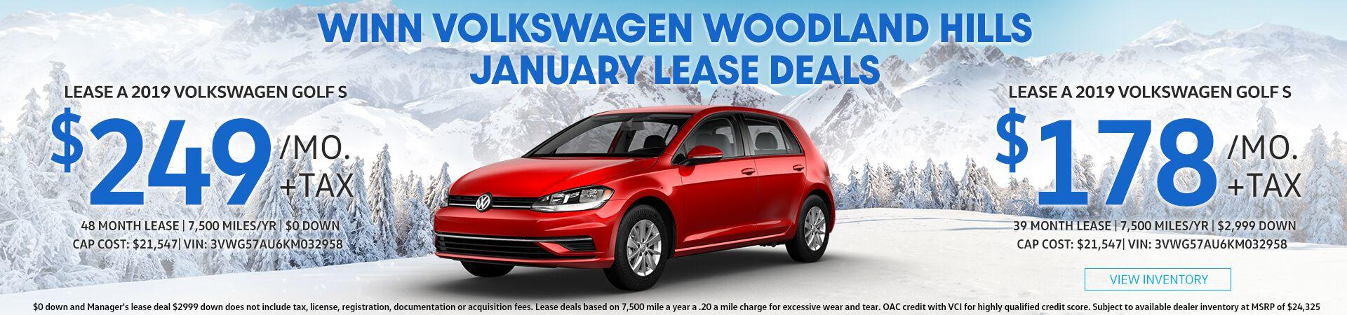 December Golf Lease deals