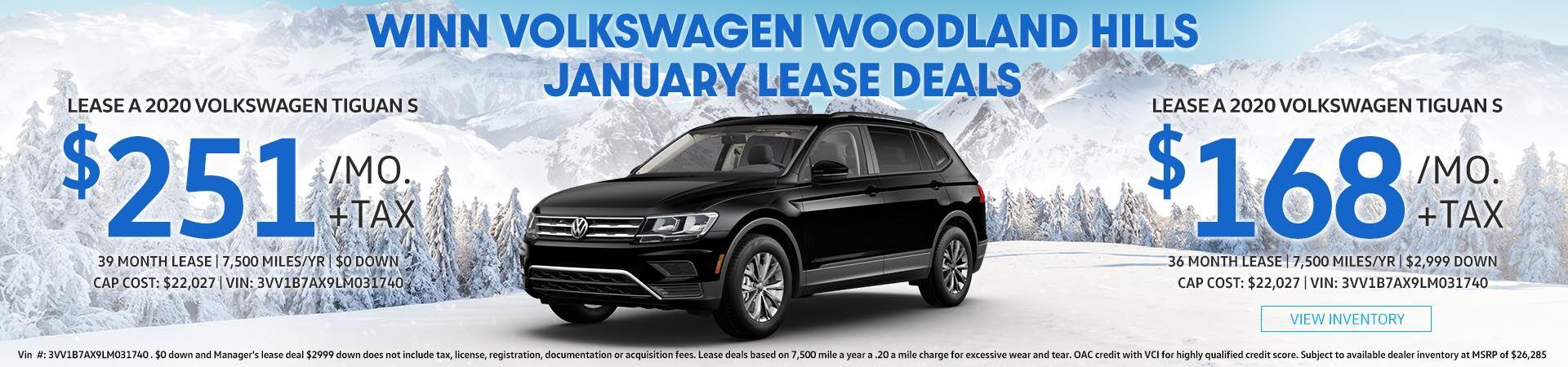 January Tiguan Lease deals