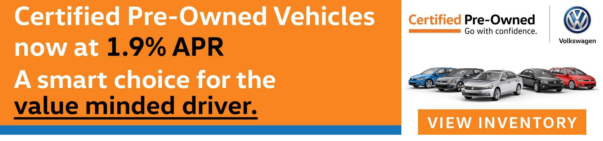 Certified Pre-Owned Vehicles at 1.9% APR