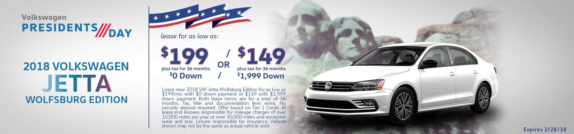 2018 Jetta Wolfsburg Edition lease specials