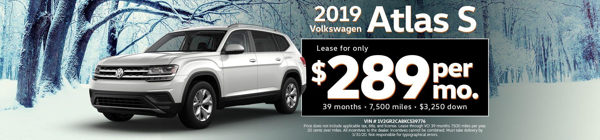 2019 Volkswagen Atlas 3.6L V6 S