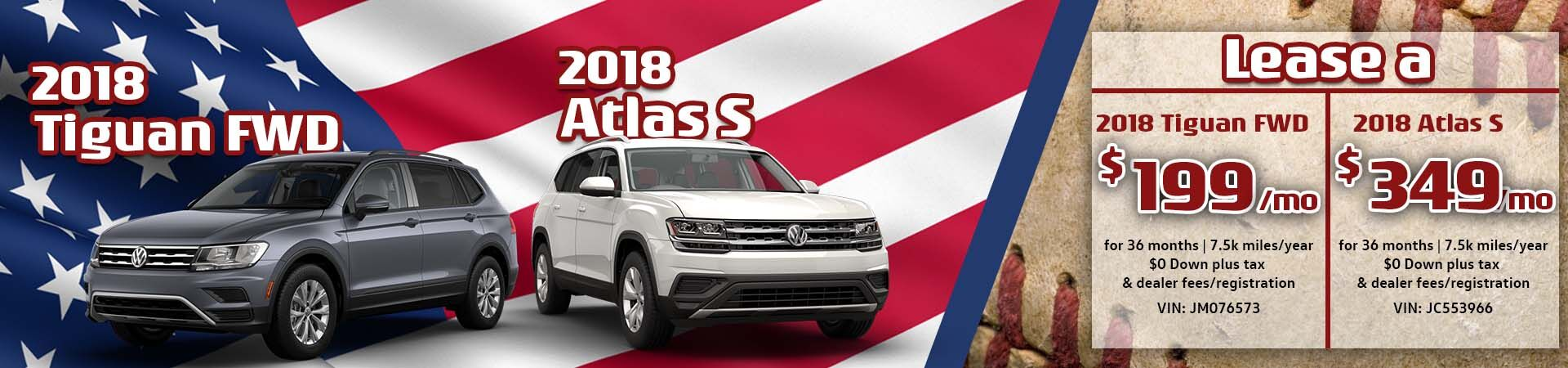 April Tiguan and Atlas special